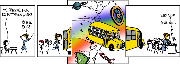 xkcd strip of magic school bus and search!
